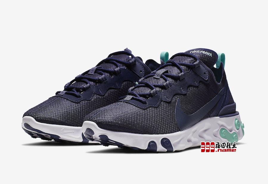 "人气鞋款,Nike React Element 55 带来全新 ""Dark Obsidian"" 配色"
