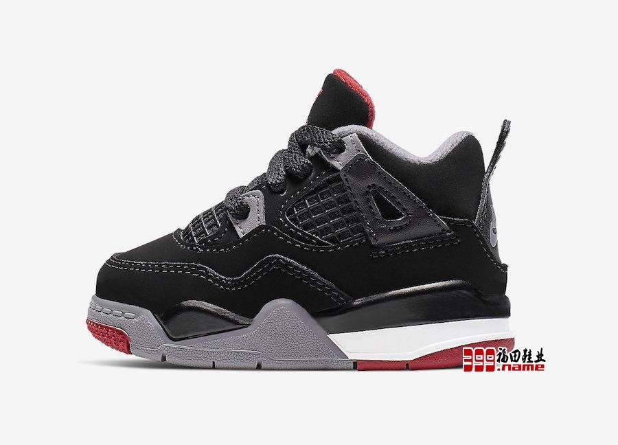 "Air Jordan 4 ""Bred"" 将释出婴童尺码"