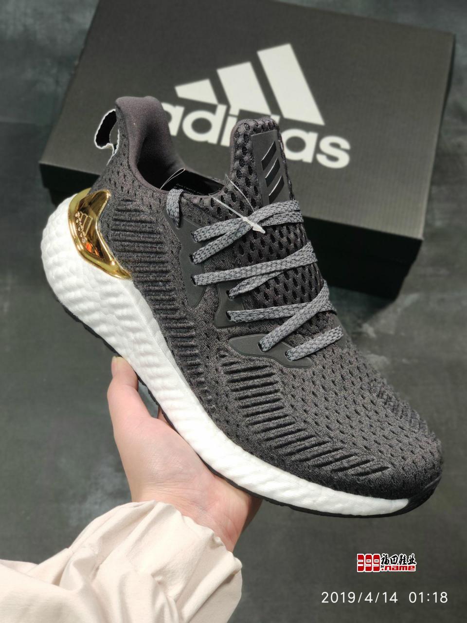 阿迪达斯Adidas Alphaboost System M 针织鞋面 阿尔法升级爆米花材质休闲运动套脚慢跑鞋货号 EG6537