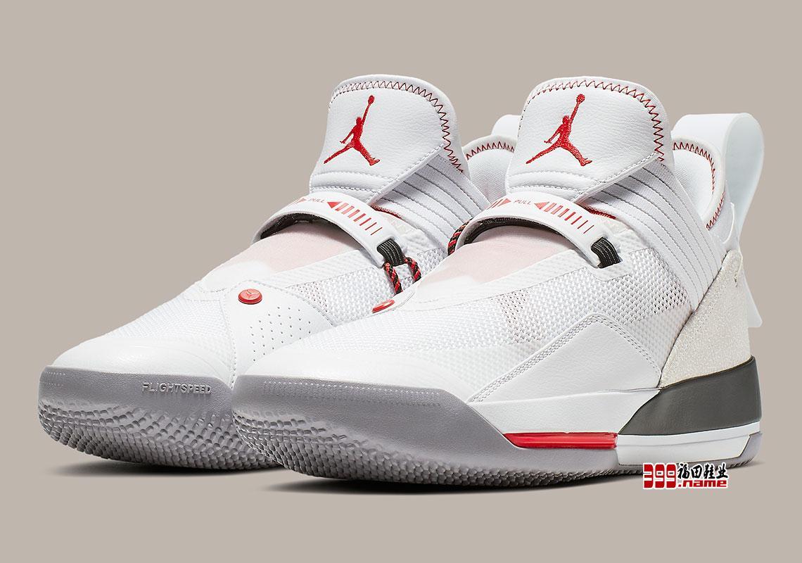 """致敬 AJ3 白水泥!Air Jordan 33 Low """"White/Cement"""" 官方图片释出"""