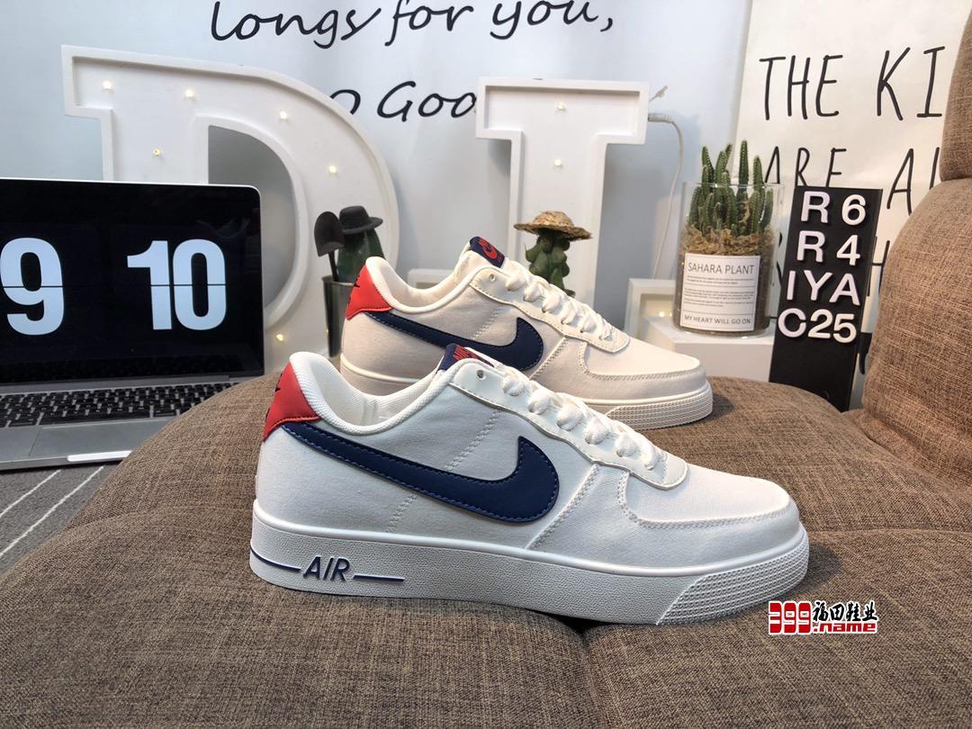 真标 Nike Air Force 1 空军一号 简版空军 帆布内置气垫 低帮板鞋