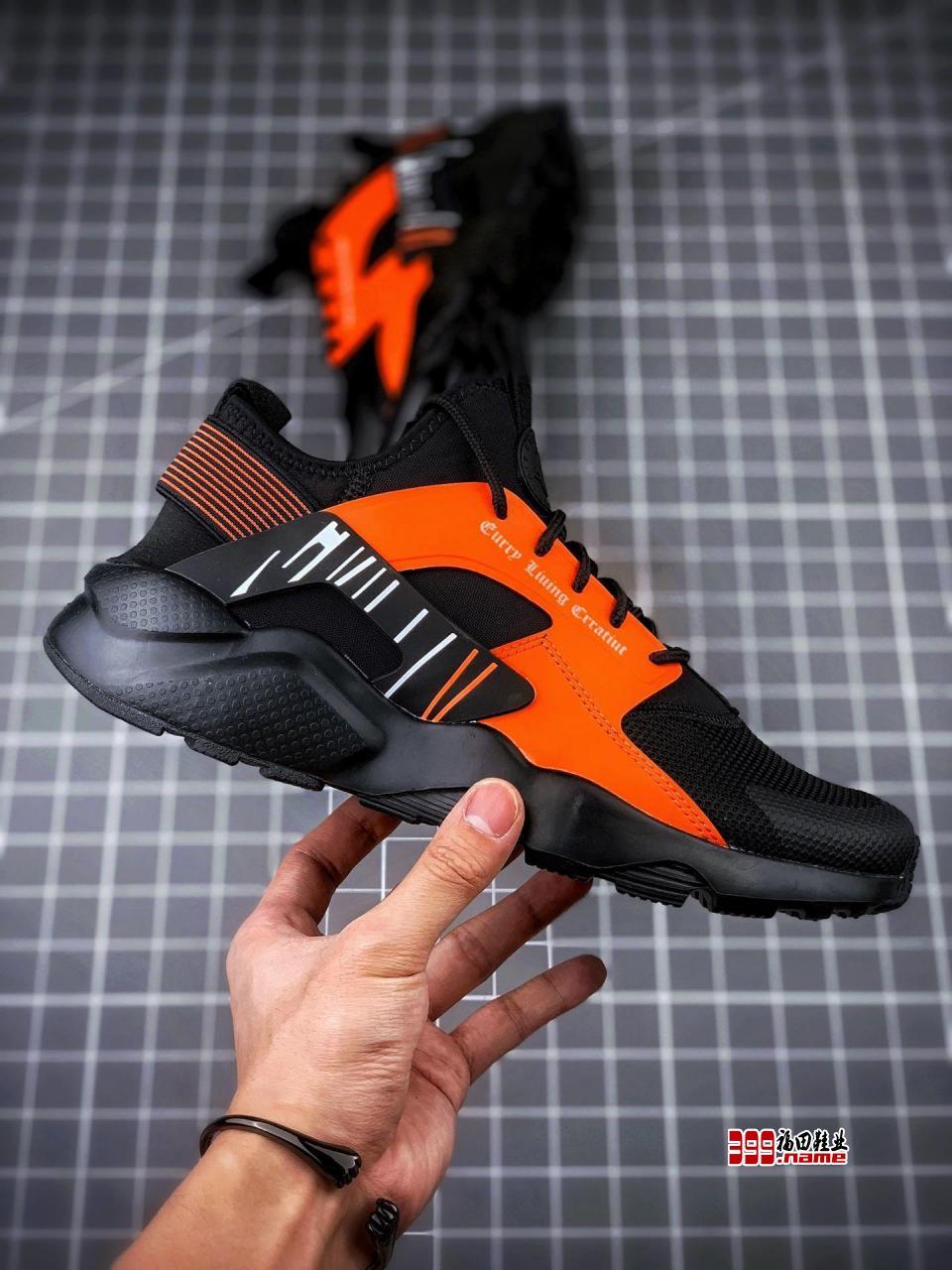 Nike Air huarache Ultra Suede ID 黑橘 华莱士4代 货号:819685-058
