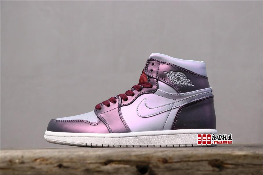 乔丹1代中帮系列 Air Jordan 1 Mid GS金属鞋面中帮变色龙 货号:AV5174-400