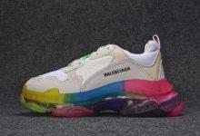 巴黎世家BALENCIAGA 19SS Triples 彩虹货号:ECBA800616H