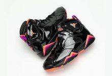 Air Jordan 7超硬核黑色漆皮鞋面货号:313358-006