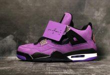 """Travis Scott x Air Jordan 4 """"PURPLE"""" 联名紫麂皮 货号:308497-510"""