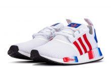 adidas NMD R1 经典红白蓝配色货号:EG5651