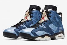 "Air Jordan 6""Washed Denim"" 货号:CT5350-401  发售日期:2019年12月28日"