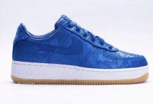 Clot x Nike Air Force 1 PRM 蓝丝绸 货号:CJ5290-400  发售日期:2019年10月