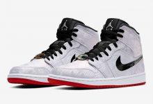 "CLOT x Air Jordan 1 Mid ""Fearless"" 白丝绸 货号:CU2804-100 发售日期:2019年12 月 7 日"