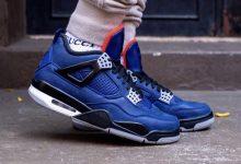 """""""小阿姆""""的 Air Jordan 4 WNTR """" Loyal Blue""""超帅上脚图,爱不释脚 货号:CQ9597-401"""