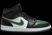 Air Jordan 1 Mid黑绿脚趾主题 货号:554724-067