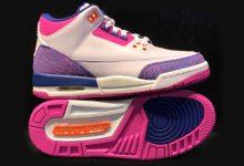 "Air Jordan 3 GS""Barely Grape"" 货号:441140-500  发售日期:2020年1月4日"