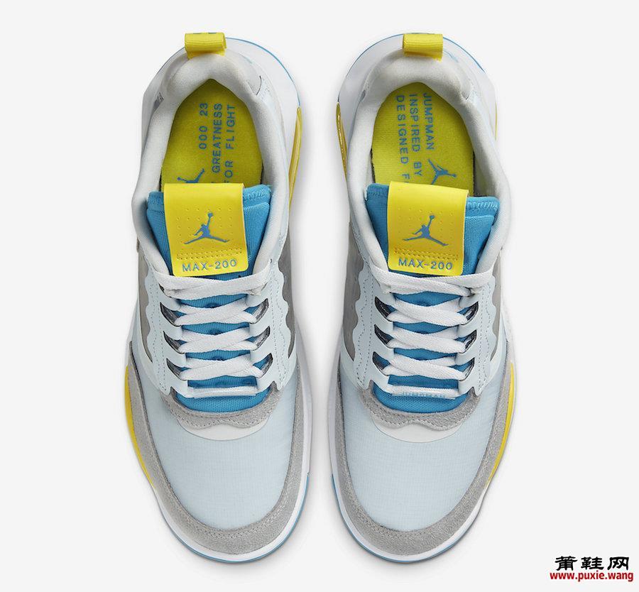 Jordan Air Max 200 White Blue Yellow CD6105-004发售日期