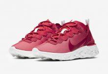 Nike React Element 55发售红色和白色 货号:CV2206-661
