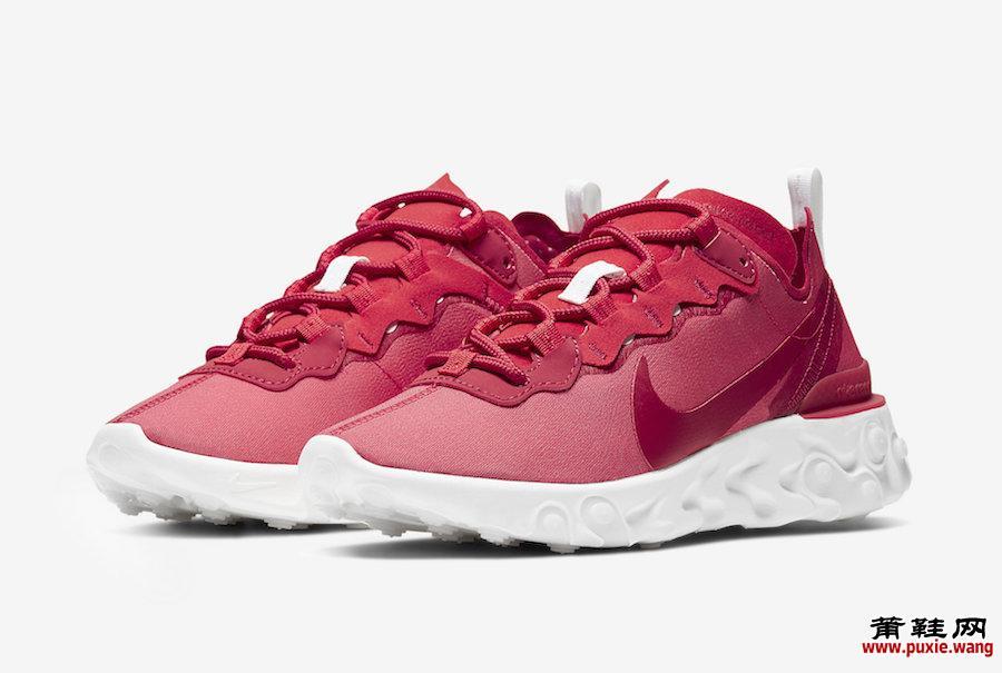 Nike React Element 55 Red White CV2206-661发售日期