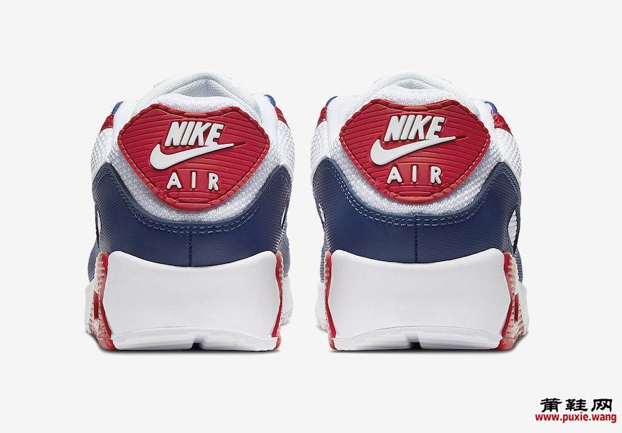 Nike Air Max 90 White Red Navy CW5456-100发售日期