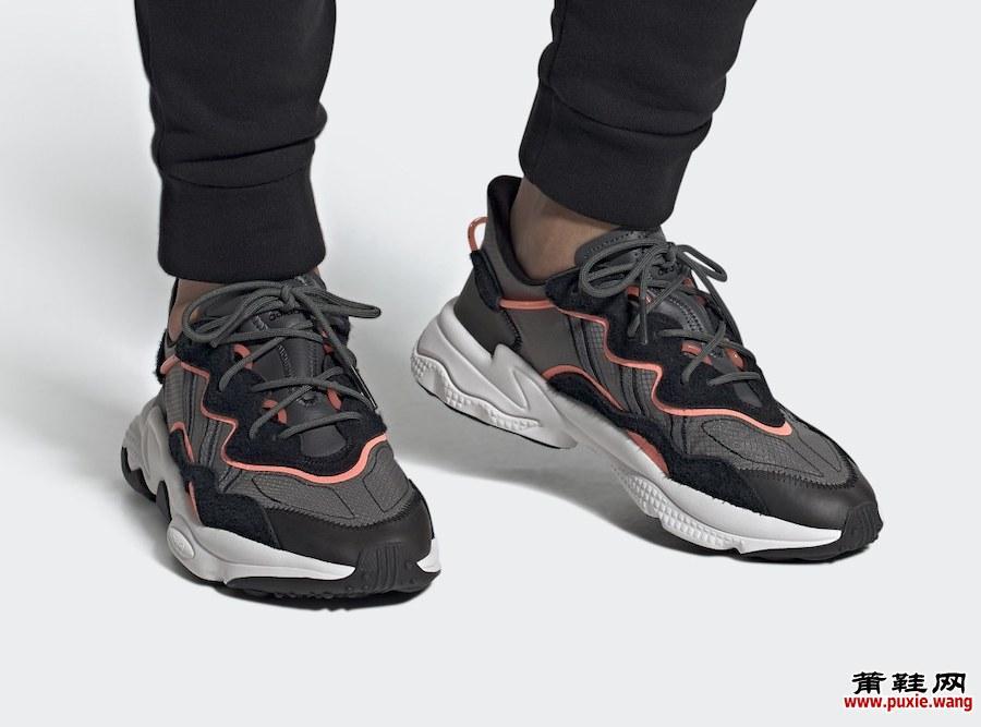 adidas Ozweego黑色灰色珊瑚色EF4289发售日期