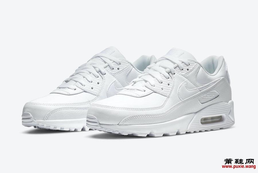 Nike Air Max 90 Leather Triple White CZ5594-100发售日期