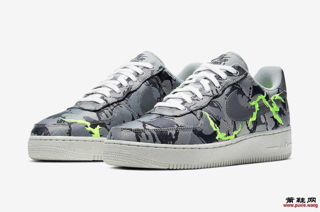 Nike Air Force 1 活力绿迷彩配色发布 哪里有卖呢 货号:CV1725-001