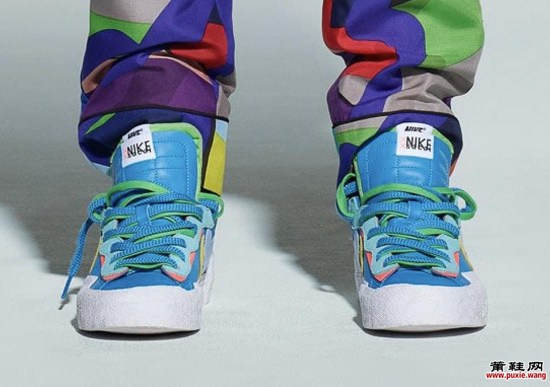 Kaws x Sacai x Nike Blazer低帮于2021年7月发售 超好看的模特图抢先欣赏